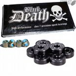 "DEATH ""Black Death"" ABEC 7 Skateboard Precision Speed Bearings Set of 8 Longboard BLACK"